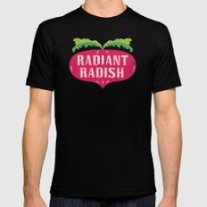 Radiant Radish SMALL Mens Fitted Tee Black