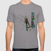 airborne Mens Fitted Tee Athletic Grey SMALL