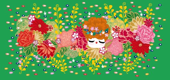 Kokeshina - Printemps / Spring Art Print