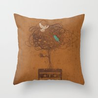 songbirds Throw Pillow