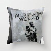 A Good Message Throw Pillow