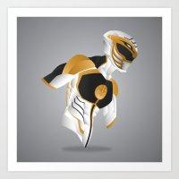 White Tiger Ranger - Red… Art Print