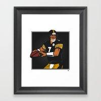 Big Ben - Steelers QB Framed Art Print