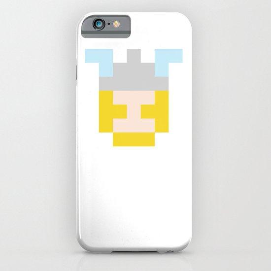 hero pixel flesh yellow grey iPhone & iPod Case