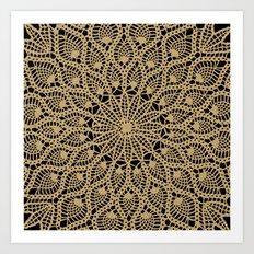 Delicate Golds Art Print