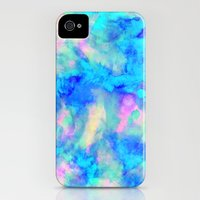 iPhone 4 Case featuring Electrify Ice Blue by Amy Sia
