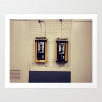 Pay Phone V Art Print