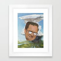 Storm Head Framed Art Print
