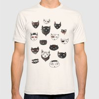 My local cattery Mens Fitted Tee Natural SMALL