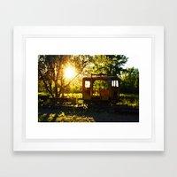 Caboose Framed Art Print