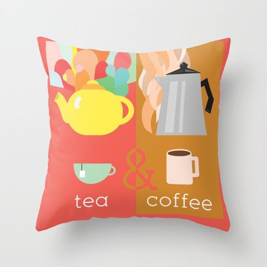 Tea&Coffee Throw Pillow