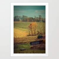 Slice of Blue Ridge Heaven -- Autumn Landscape Art Print