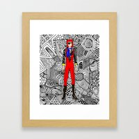 Bowie Fashion 4 Framed Art Print