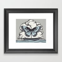 Butterfly Boat - We Are … Framed Art Print