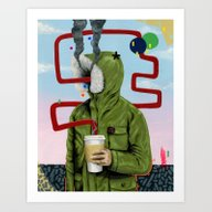 Art Print featuring Caffeine Boost by FAMOUS WHEN DEAD