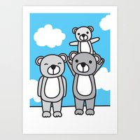 Polar Bear Family Art Print