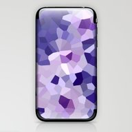 Abstract Floral In Blue … iPhone & iPod Skin