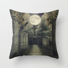 Graveyard #4 * cemetary thombstone creepy scary Throw Pillow