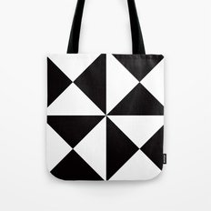 B/W triangle X4 pattern Tote Bag