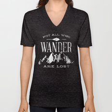 Not All Who Wander Are L… Unisex V-Neck