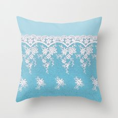 Love of Turquoise #lace Throw Pillow