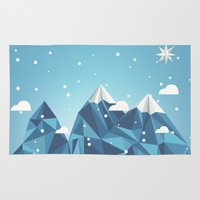 Area & Throw Rug featuring Cool Mountains by Stefan Trudeau