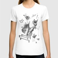 Hands Womens Fitted Tee White SMALL