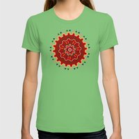Wayuu Pattern Womens Fitted Tee Grass SMALL