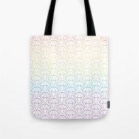 Rainbow Emeralds Pattern Tote Bag