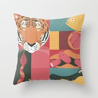 Throw Pillow featuring Zoo by Andrea Manzati