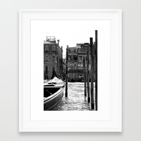 No Parking Framed Art Print
