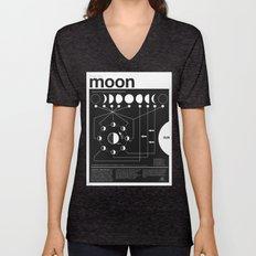 Phases Of The Moon Infog… Unisex V-Neck