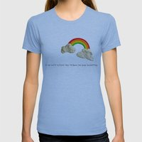 rainbows & poops Womens Fitted Tee Athletic Blue SMALL