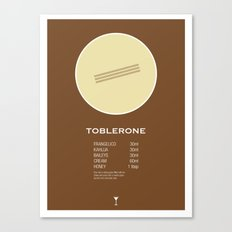Toblerone Cocktail Recipe Poster (Metric) Canvas Print