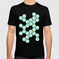 Hexagold Mens Fitted Tee Black SMALL