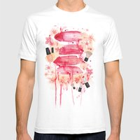 Bleeding Lips Mens Fitted Tee White SMALL