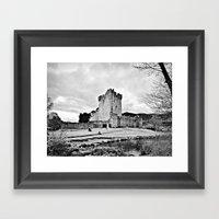 Ireland: Castle B&W Framed Art Print