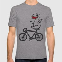 WIT bike riding Mens Fitted Tee Athletic Grey SMALL