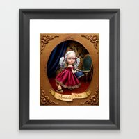 Annabelle White Framed Art Print