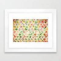 Clover Round Framed Art Print