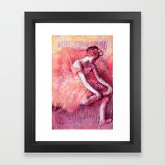 Ballerina Peach Framed Art Print