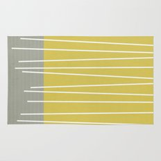 MId century modern textured stripes Rug