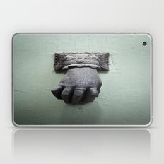 Old door with doorknob Laptop & iPad Skin