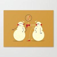 Snowman ... Canvas Print