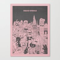 Squad Ghouls Canvas Print