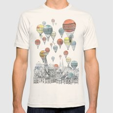 Voyages over Edinburgh Mens Fitted Tee Natural SMALL