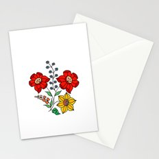 Hungarian placement print - white Stationery Cards