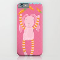iPhone & iPod Case featuring rabbits play with their food by PinkNounou