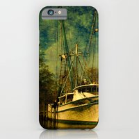 iPhone & iPod Case featuring Old Shrimp Boats in Florida by Susanne Van Hulst