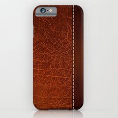 Brown leather look #2 Slim Case iPhone 6s